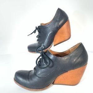 Kork Ease Black Leather Mary Jane Shoes Sz 6